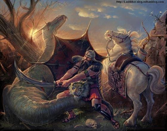 جنگ رستم با اژدها
